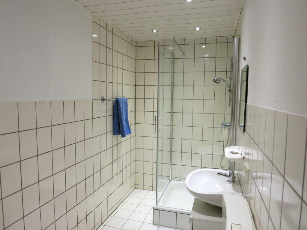 Bild des Badezimmer (Dusche) der Ferienwohnung Rudolphi