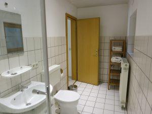 Bild des Badezimmers der Ferienwohnung Rudolphi