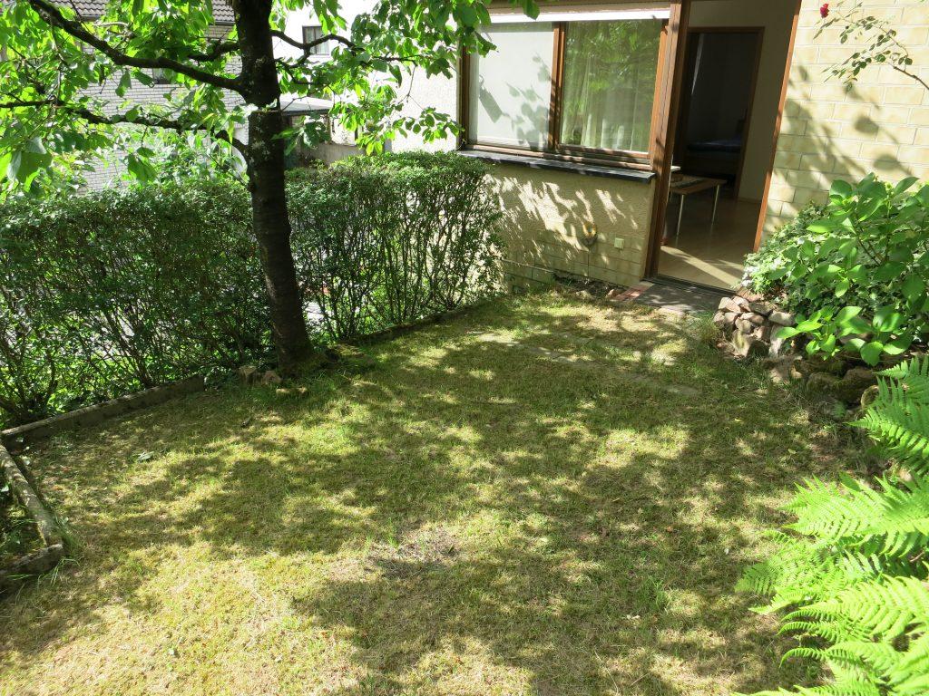 Bild der Naturterrasse der Ferienwohnung Rudolphi